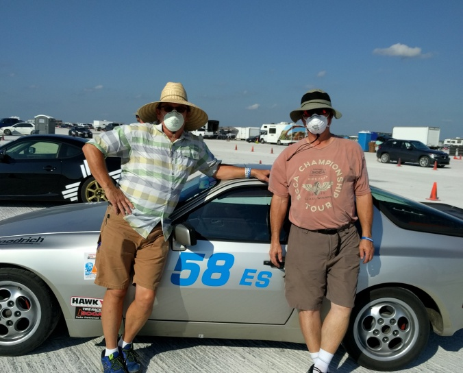 co-drivers in masks